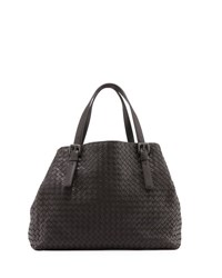Bottega Veneta Large A Shape Leather Tote Bag Espresso
