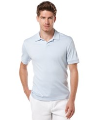 Perry Ellis Big And Tall Short Sleeve Open Polo Shirt Light Blue