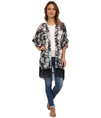 Steve Madden Mimi Floral Kimono Neutral Women's Clothing