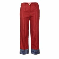 Jiri Kalfar Red Trousers With Contrasting Bottom Blue Red