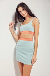 Ecote Rising Tide Cropped Top Two Piece Set Blue