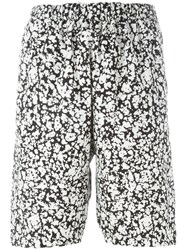 Christopher Kane Marble Print Shorts Black