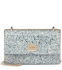 Jimmy Choo Leni Glitter Shoulder Bag Silver