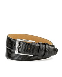 Robert Graham Martin Embossed Leather Belt Black