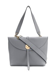 Coccinelle Strap Detail Tote Grey