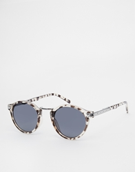 Asos Vintage Look Round Sunglasses Grey