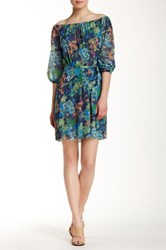 Sweet Pea Tie Waist Printed Dress Multi