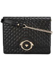 Roberto Cavalli Quilted Crossbody Bag Black