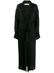 Isabel Benenato Relaxed Trench Coat Black