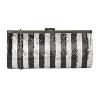 Lotus Spinale Matching Clutch Bag Black