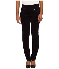 Jag Jeans Petite Peri Pull On Straight Wale Corduroy Black Orchid Women's Casual Pants