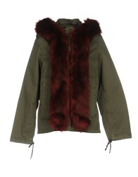Fornarina Coats And Jackets Jackets Military Green
