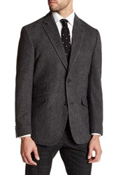 Kroon Grey Herringbone Jacket Gray