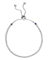 Officina Bernardi Slash Bead Slider Bracelet Silver