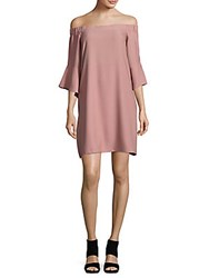 Saks Fifth Avenue Red Solid Off The Shoulder Dress Blush