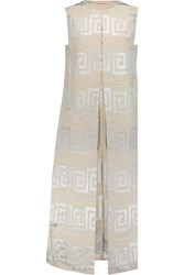 Tory Burch Metallic Jacquard Vest White