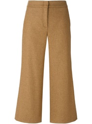 L'autre Chose Cropped Trousers Nude And Neutrals