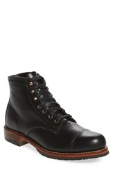 Wolverine Men's 'Adrian' Cap Toe Boot Black Leather