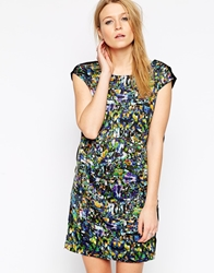 Y.A.S Mirror Print Short Sleeve Dress Alloverprint