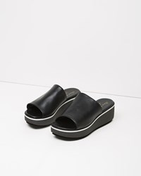 Robert Clergerie Pole Platform Slide Black
