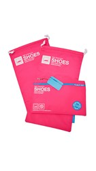 Flight 001 Go Clean Shoe Bag Set Pink