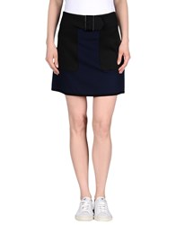 1 One Knee Length Skirts Dark Blue