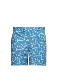 Frescobol Carioca Camhino Print Tailored Swim Shorts Blue