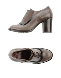 F.Lli Bruglia Lace Up Shoes Dove Grey