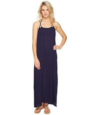 Echo Solid Maxi Beach Dress Navy Women's Dress