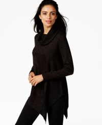 Alfani Asymmetrical Hem Cowl Neck Sweater Only At Macy's Blk Copper