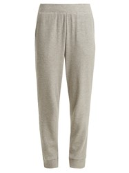 Skin Waffle Knit Cotton Blend Track Pants Grey