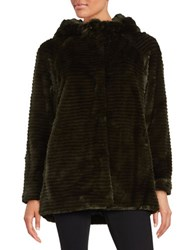 Vince Camuto Faux Fur Hooded Jacket Hunter