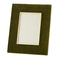 Aerin Valentina Velvet Photo Frame Moss 4X6 Green