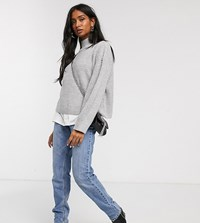 Micha Lounge Relaxed High Neck Sweater Gray