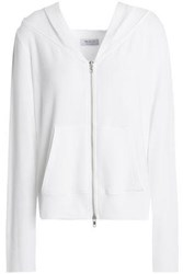 Bailey 44 Stretch Modal Jersey Hooded Sweatshirt White