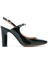 L'autre Chose Slingback Court Shoes Women Leather Patent Leather 38 Black