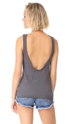 Stateside Crepe Tank Top Charcoal