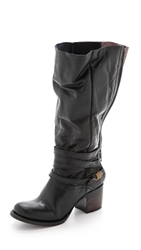 Freebird By Steven Wiley Zip Back Boots Black