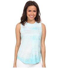 Calvin Klein Jeans Texture Tee Cloud Blue Women's Sleeveless