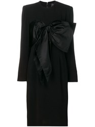 Jean Louis Scherrer Vintage Bow Detail Dress Black