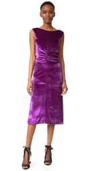 Nina Ricci Sleeveless Cocktail Dress Purple
