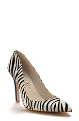 Women's Shoes Of Prey Pointy Toe Pump Zebra Hair
