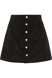 Ag Jeans The Gove Suede Mini Skirt Black