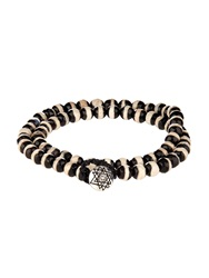 Luis Morais Bi Colour Bead And White Gold Bracelet