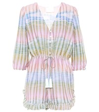 Athena Procopiou Cosmic Dancer Striped Playsuit Multicoloured