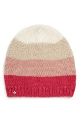 Kate Spade New York Colorblock Beanie Pink Cream Oatmeal Peony Begonia