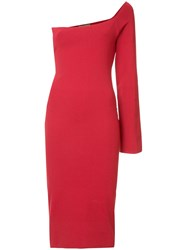 Solace London Off The Shoulder Dress Red