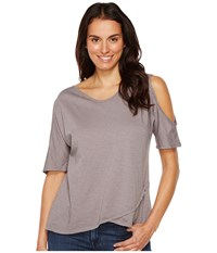 Fresh Produce Crossover Escape Top Grey Smoke Women's Clothing Gray