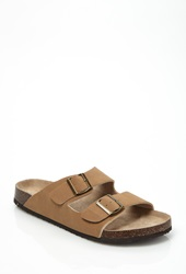 Forever 21 Two Strap Sandals Tan