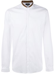 The Kooples Leather Collar Shirt White